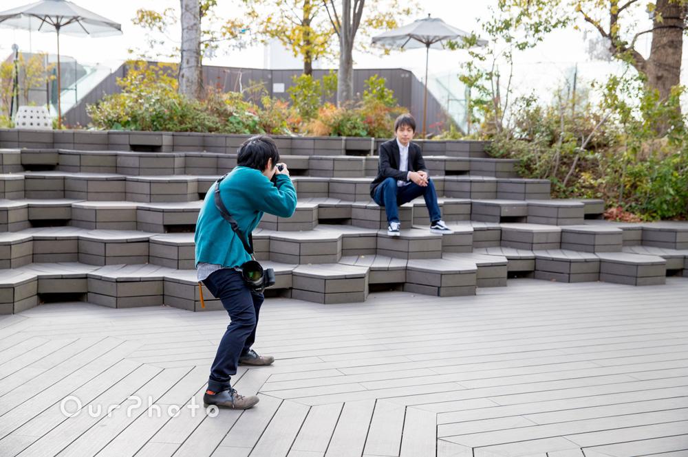 【撮影同行レポート Vol.9】おしゃれな街中でプロフィール写真の撮影