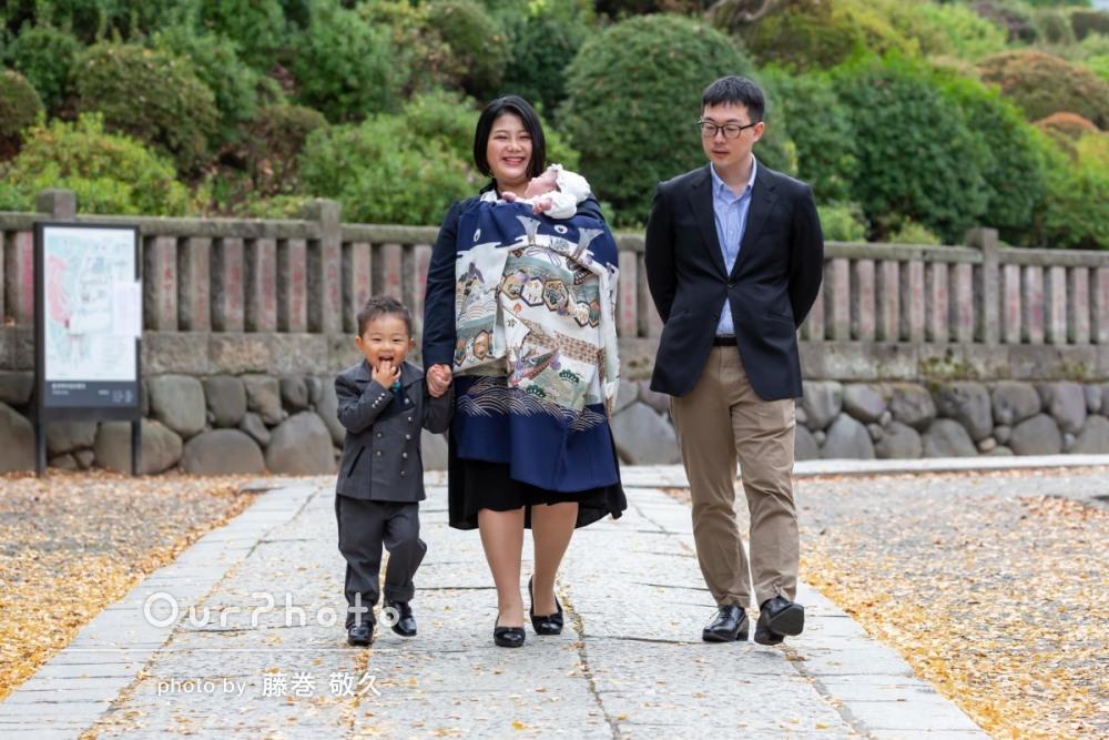 コロナ禍でのお宮参り記念撮影9