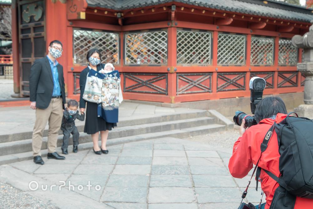 コロナ禍でのお宮参り記念撮影14