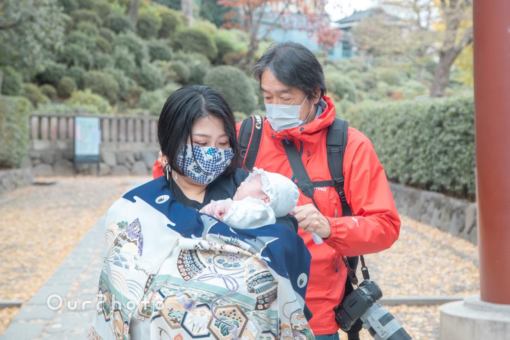 コロナ禍でのお宮参り記念撮影6