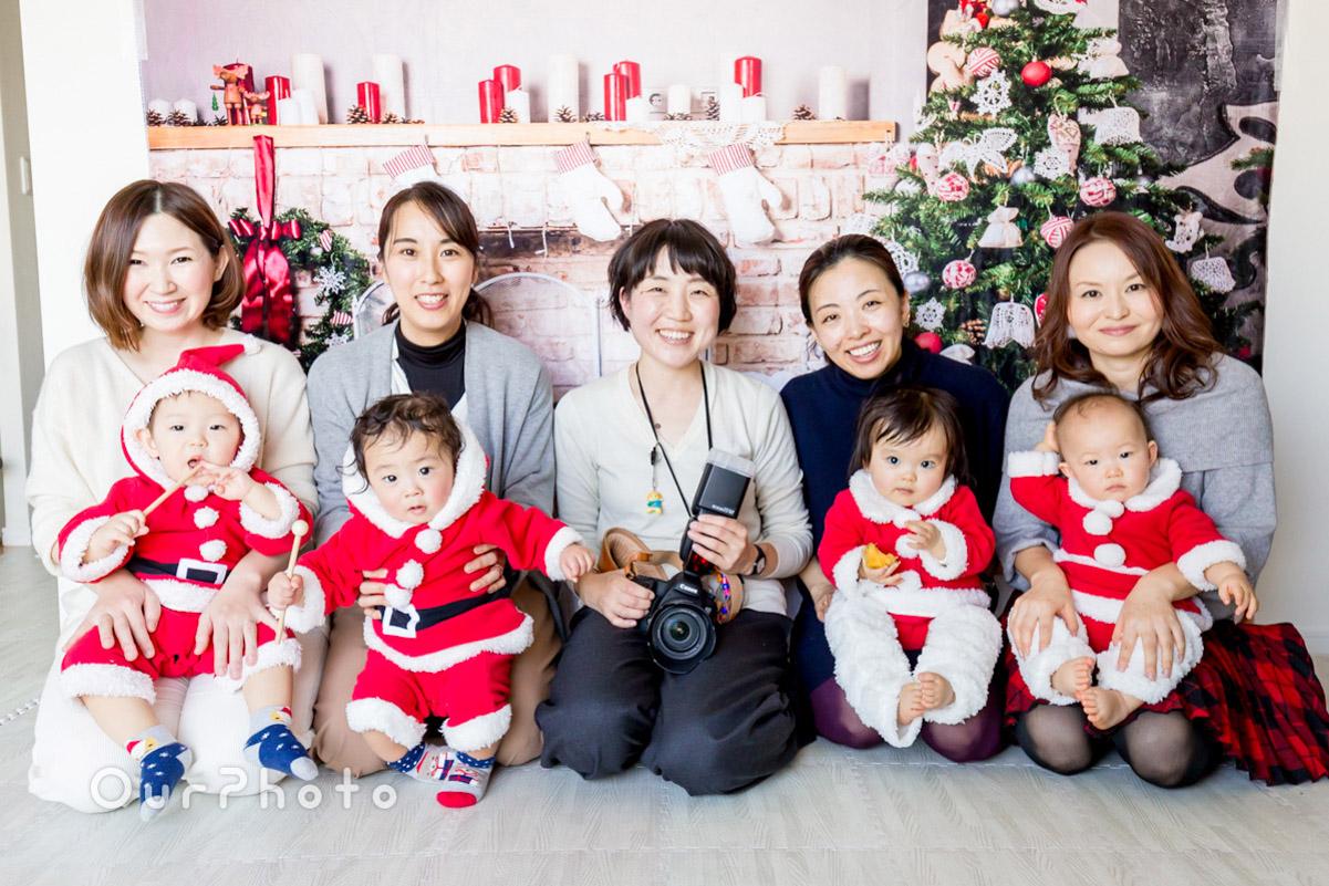 【撮影同行レポート Vol.4】ママ友とミニミニサンタさんたちのクリスマスパーティー
