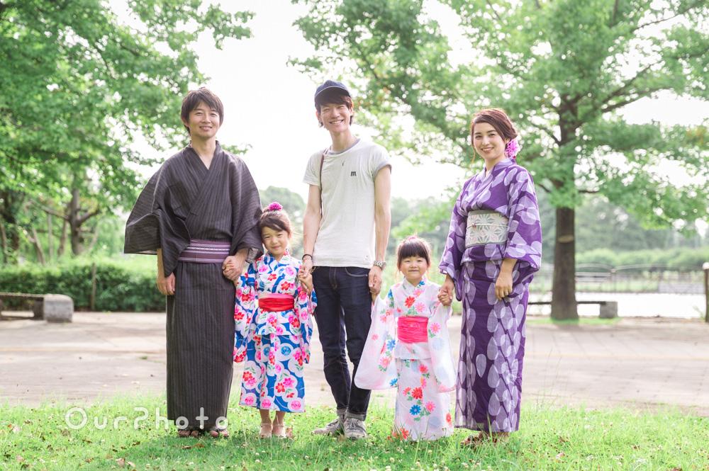 【撮影同行レポート Vol.17】初めて家族全員で浴衣姿を写真に