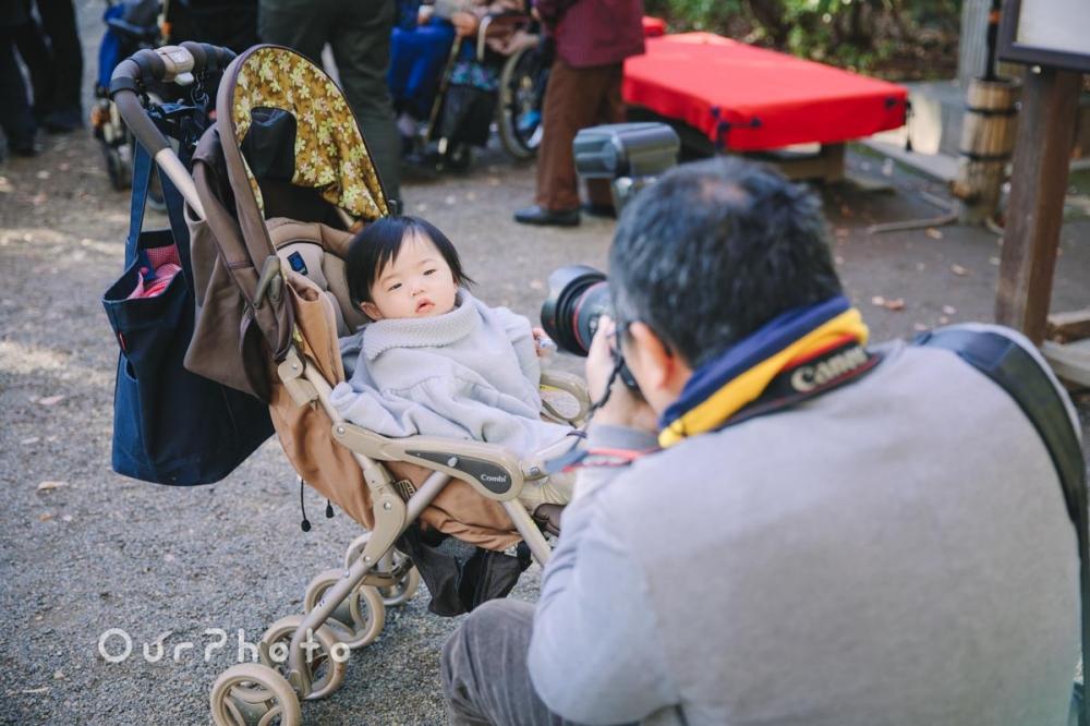 年賀状用家族写真の撮影1
