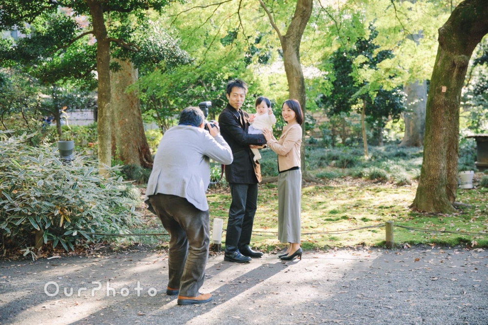 年賀状用家族写真の撮影3