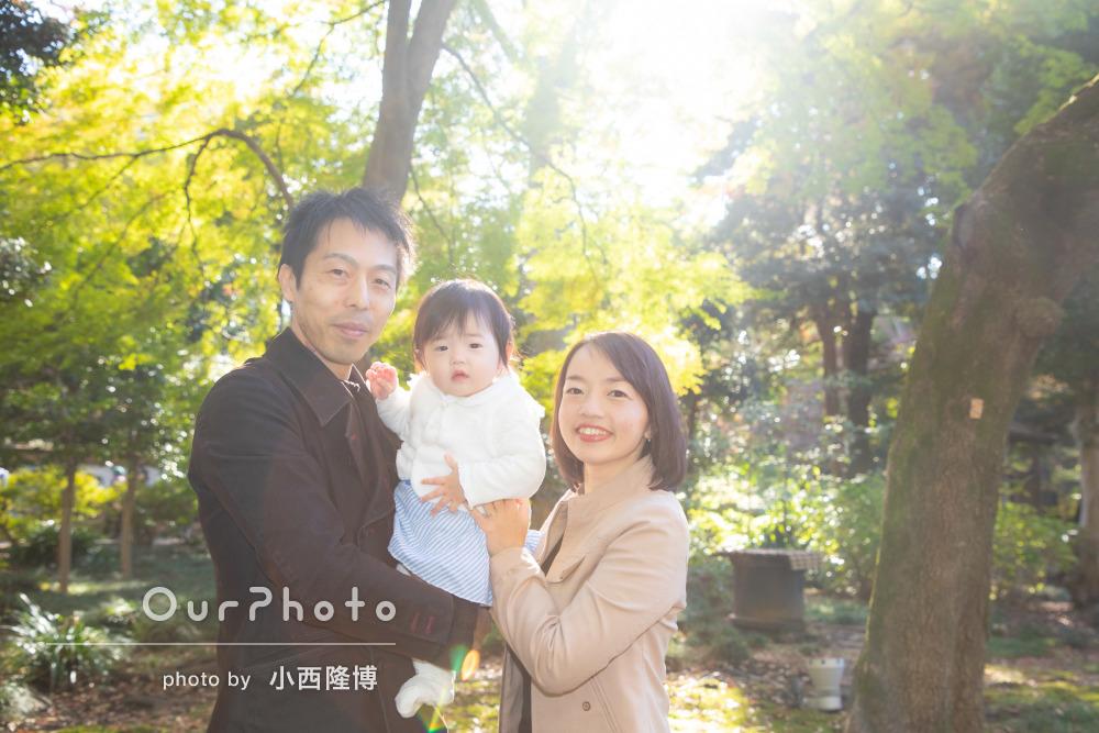 年賀状用家族写真の撮影4