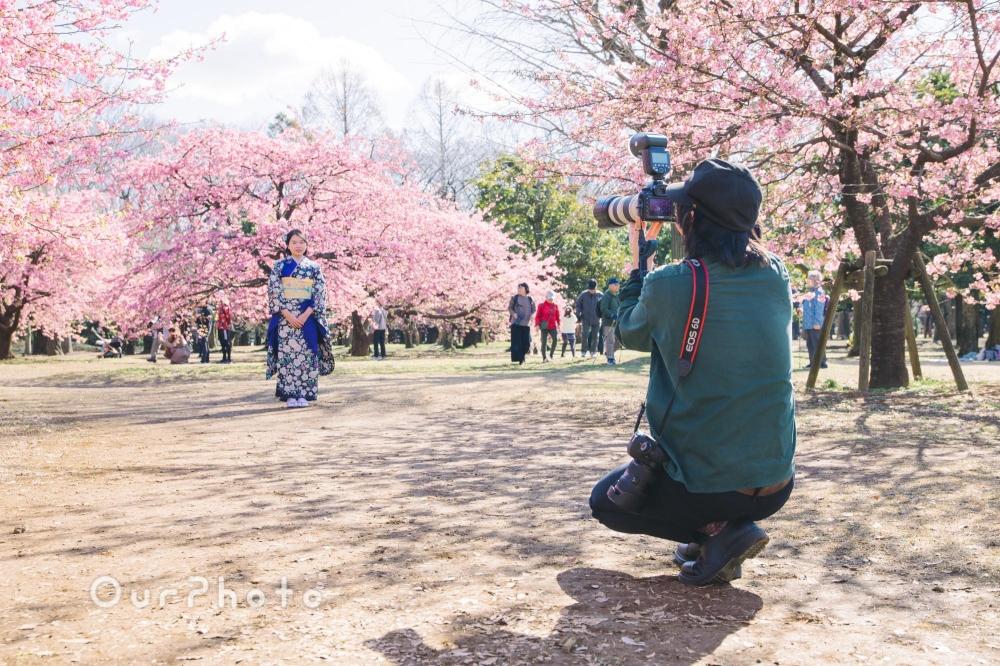 河津桜と姉妹2人で成人式の後撮り9