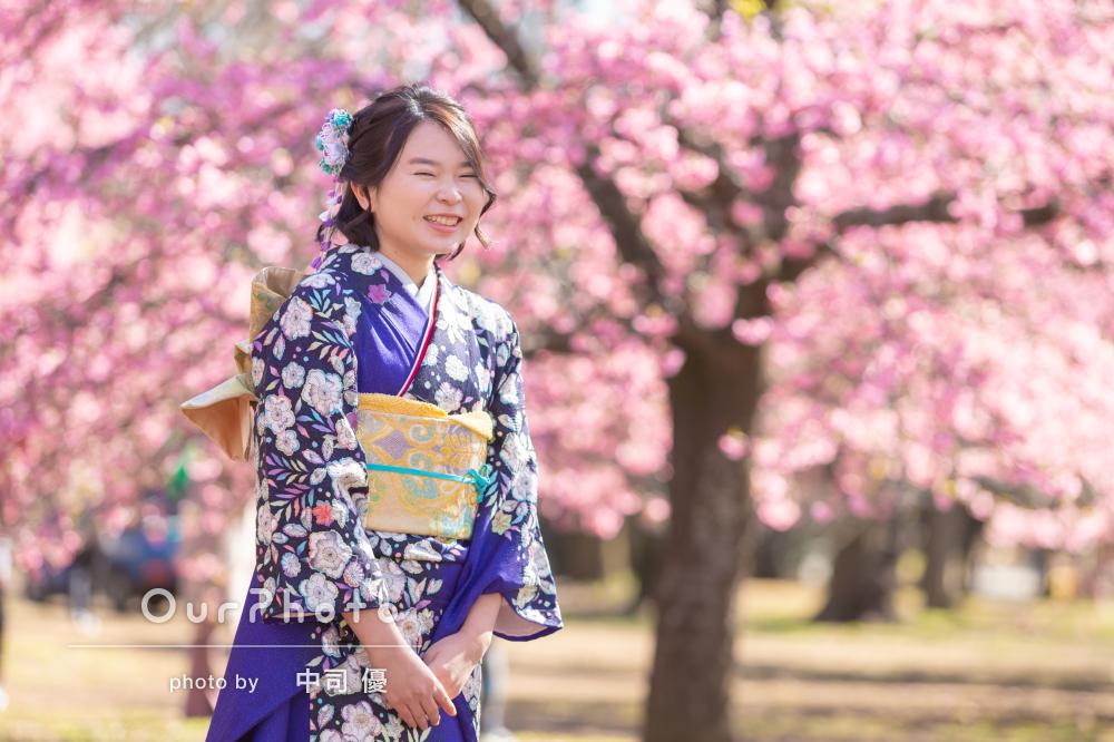 河津桜と姉妹2人で成人式の後撮り10