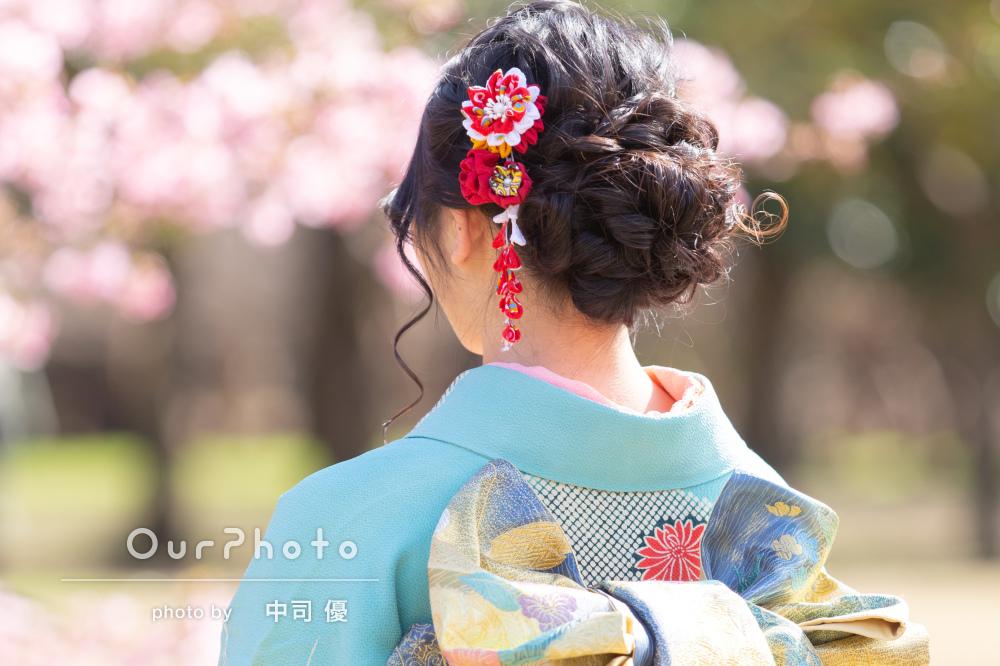 河津桜と姉妹2人で成人式の後撮り12