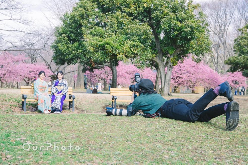 河津桜と姉妹2人で成人式の後撮り14