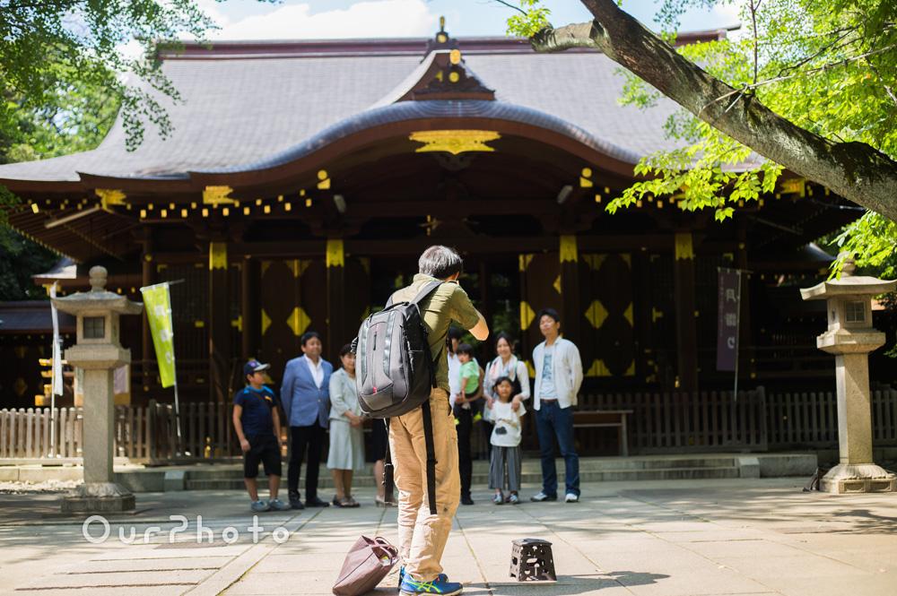 【撮影同行レポート Vol.15】アジサイが咲く初夏のお宮参りの撮影