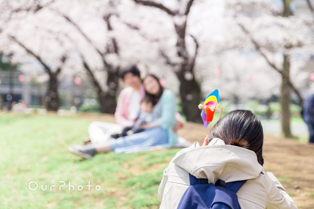 お花見撮影風景12