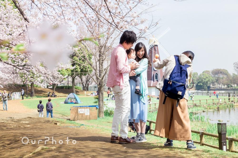 お花見撮影風景6
