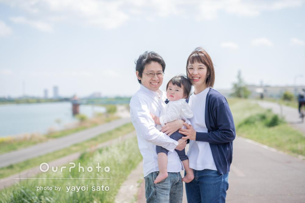兜飾りと一緒に端午の節句のお祝い!初節句の家族写真の撮影に同行8