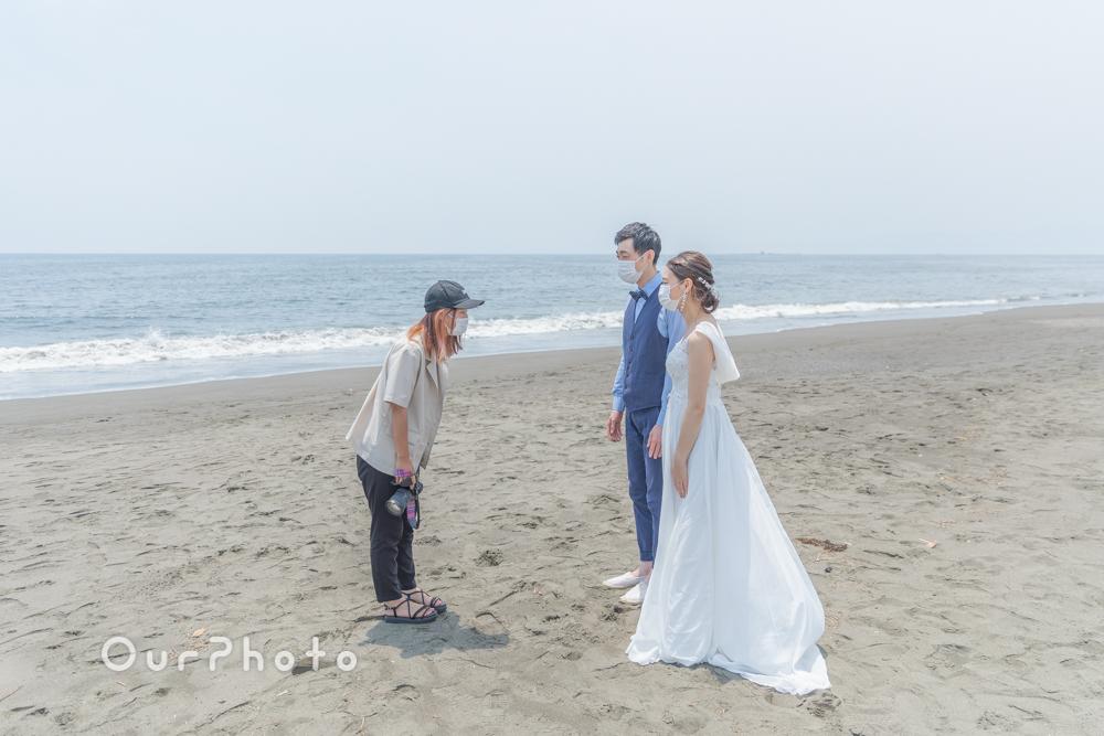 延期した結婚式、少しでも思い出作りを!海辺でのウェディング撮影に同行2