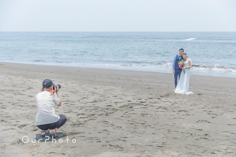 延期した結婚式、少しでも思い出作りを!海辺でのウェディング撮影に同行3