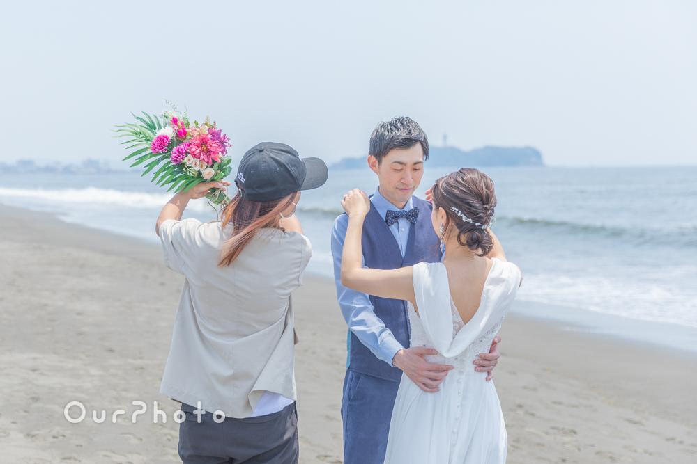 延期した結婚式、少しでも思い出作りを!海辺でのウェディング撮影に同行6