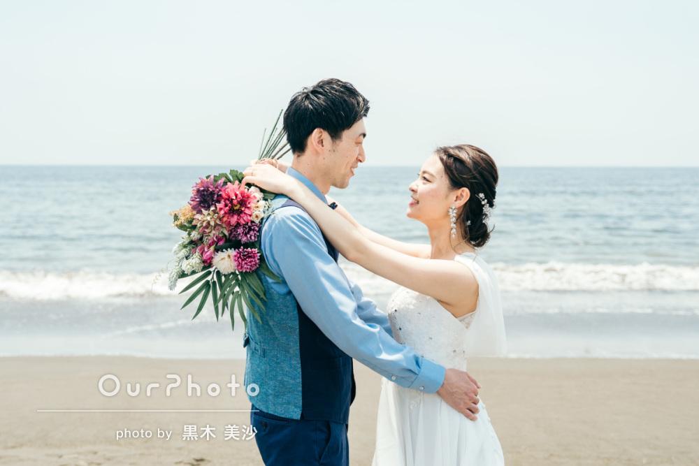 延期した結婚式、少しでも思い出作りを!海辺でのウェディング撮影に同行7