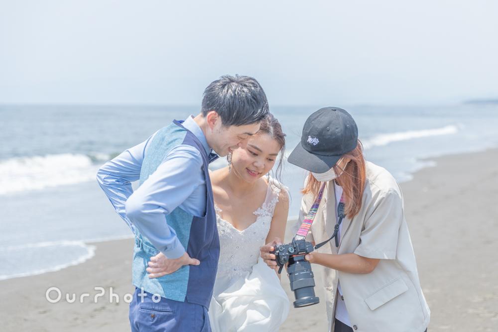 延期した結婚式、少しでも思い出作りを!海辺でのウェディング撮影に同行8