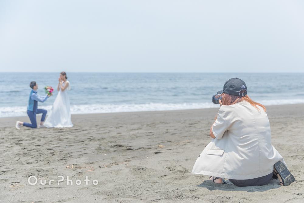 延期した結婚式、少しでも思い出作りを!海辺でのウェディング撮影に同行9