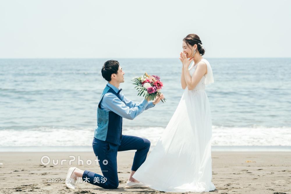 延期した結婚式、少しでも思い出作りを!海辺でのウェディング撮影に同行10