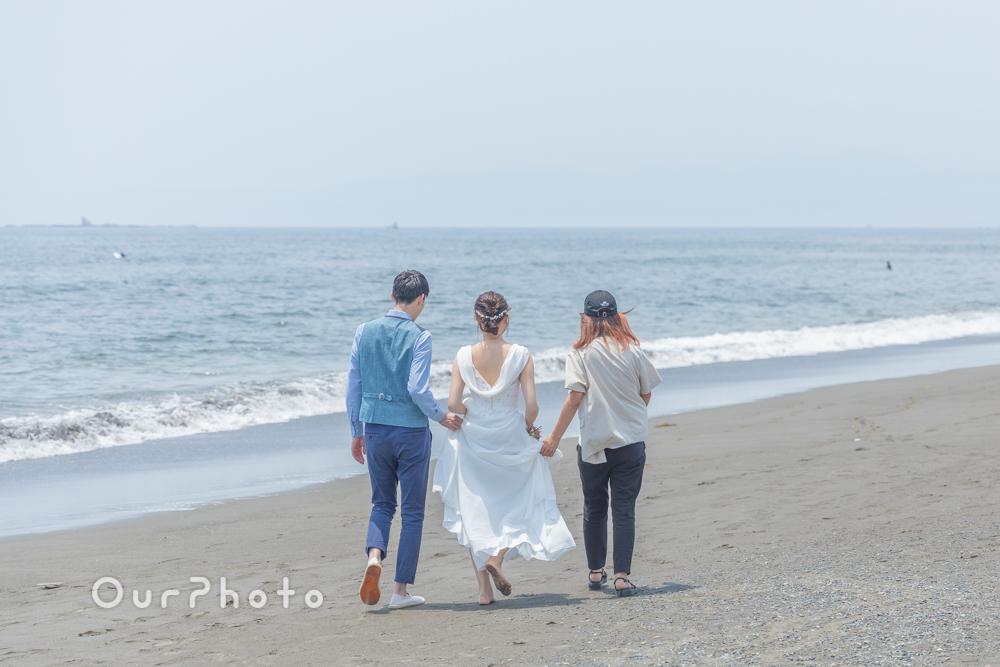 延期した結婚式、少しでも思い出作りを!海辺でのウェディング撮影に同行11