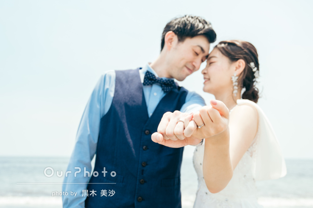 延期した結婚式、少しでも思い出作りを!海辺でのウェディング撮影に同行14