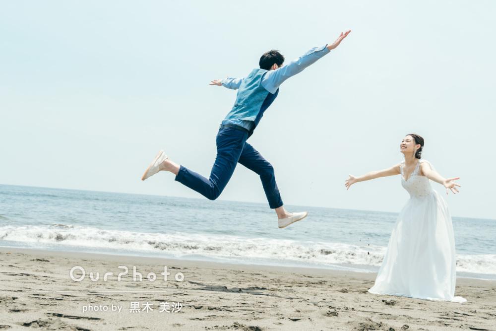延期した結婚式、少しでも思い出作りを!海辺でのウェディング撮影に同行15