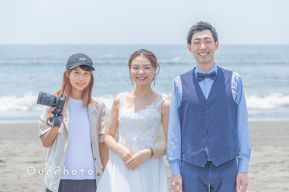 延期した結婚式、少しでも思い出作りを!海辺でのウェディング撮影